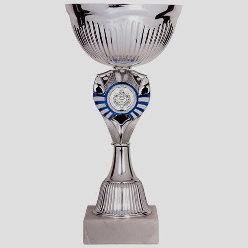 copa plateada azul