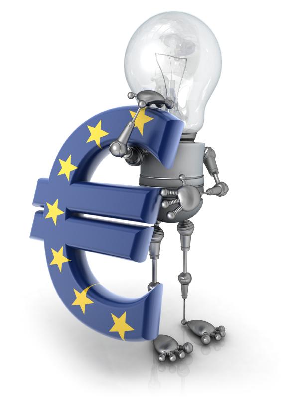 Ideenmännchen mit Euro