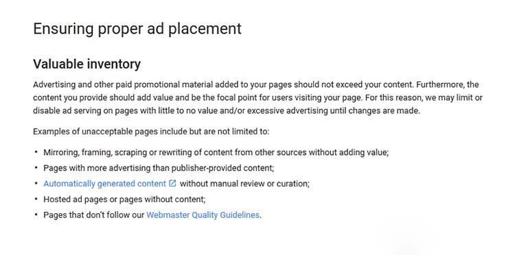 google adsense removes 3 ads per page limitation