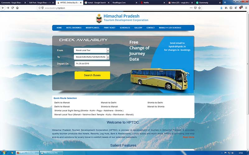 rohtang pass electric bus