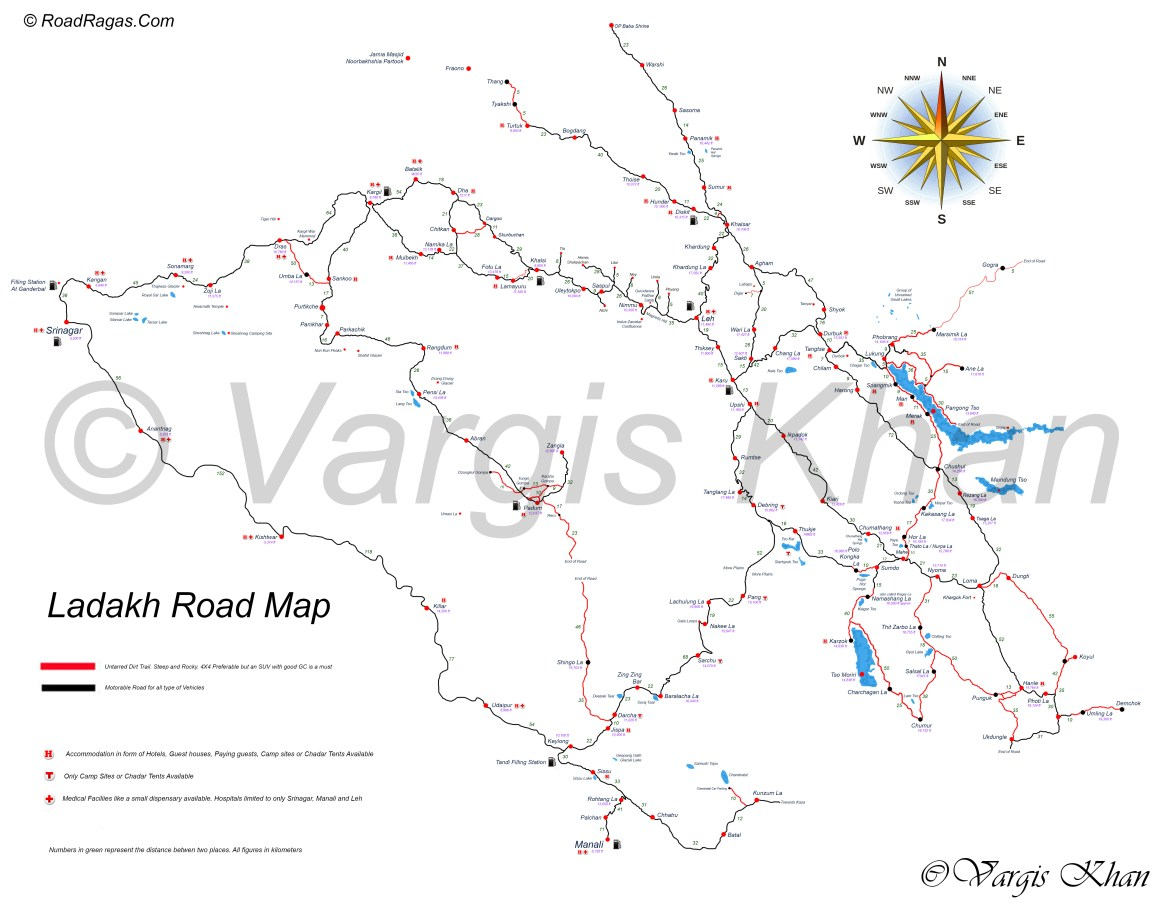ladakh road map