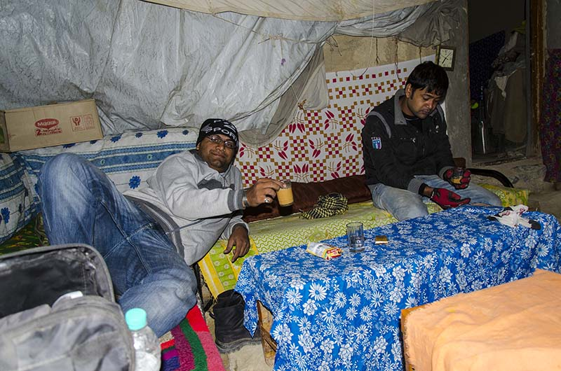 chadar tent camp in ladakh
