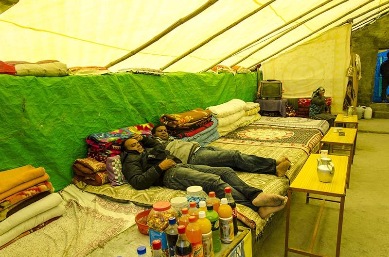 chadar tent in ladakh