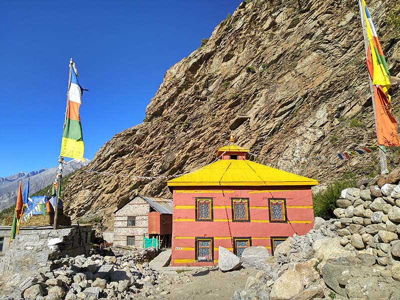a gompa in lahaul valley