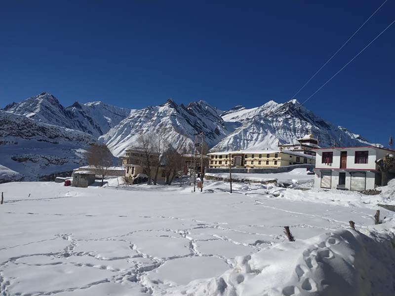 pin valley in winter