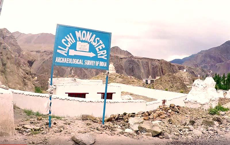 Alchi Monastery in Ladakh and Alchi Village
