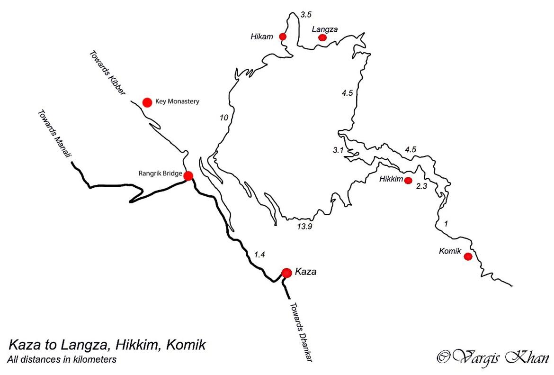 kaza to langza to hikkim to komic road map