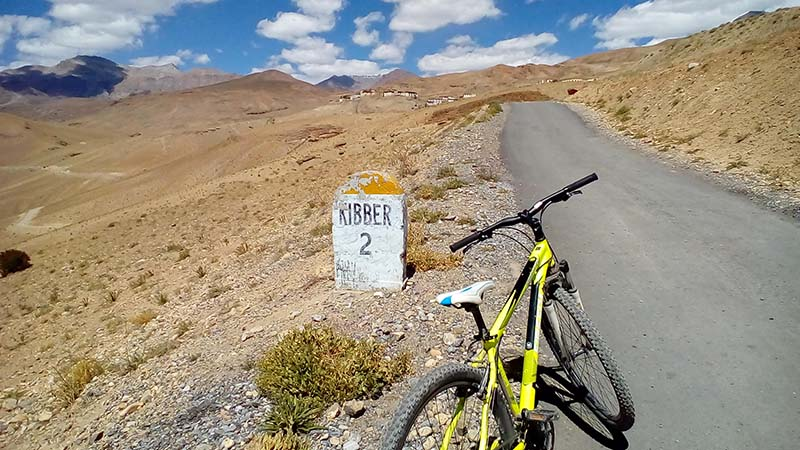 cycling to kibber village