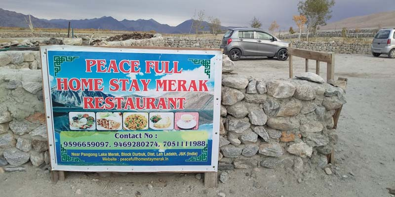 Guest House in Merak village on the route from Pangong to Hanle