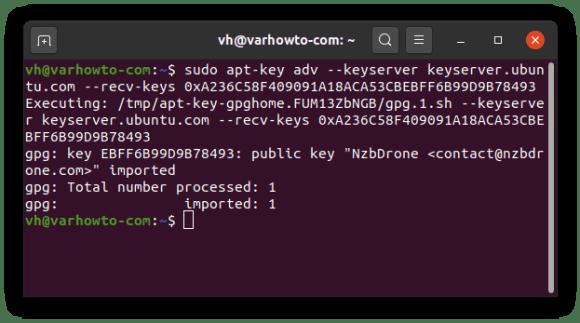 Adding official Sonarr key