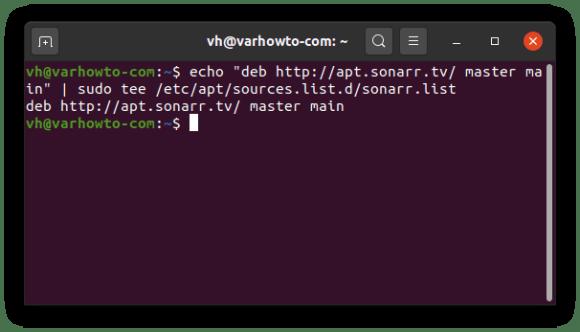 Adding official Sonarr repo to Ubuntu 20.04