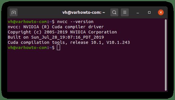 Use nvcc version to check cuda version