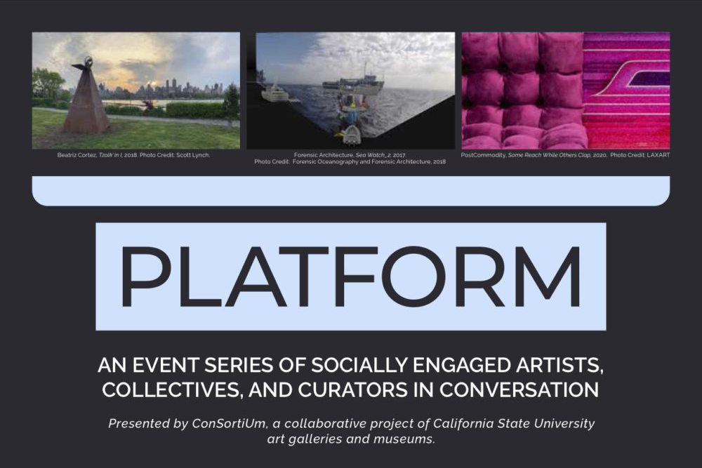 CSU Platform lecture series flyer