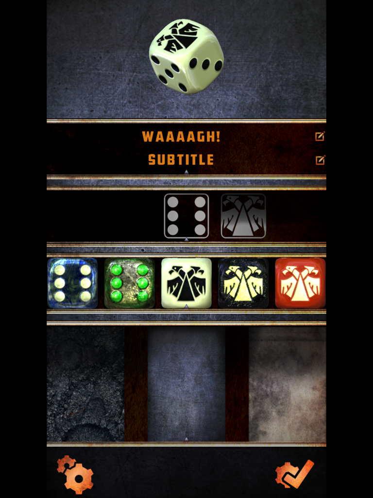 The dice are pretty...