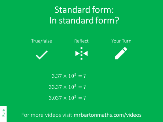 Standard Form Variation Theory