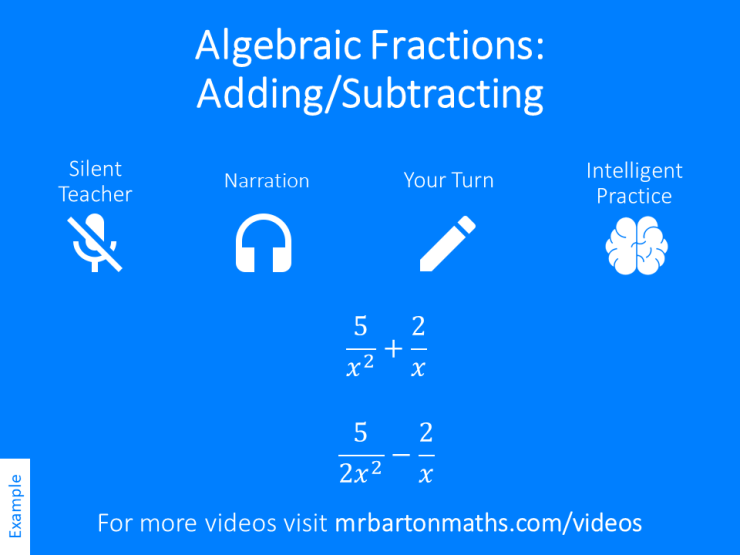 Adding And Subtracting Algebraic Fractions Variation Theory