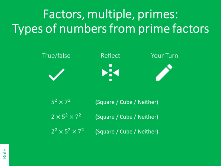 Types Of Numbers From Prime Factors Variation Theory