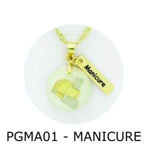 Pingente de Profissão Manicure com Resina – PGMA01