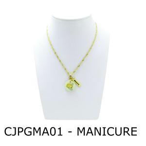 Conjunto Cordão e Pingente de Profissão Manicure com Resina – CJPGMA01