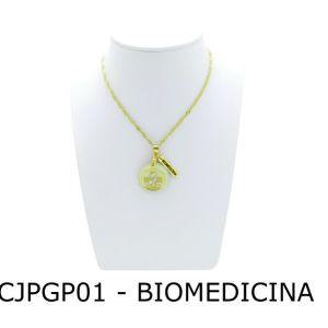 Enviado emConjunto Cordão e Pingente de Profissão Biomedicina com Resina - CJPGP01