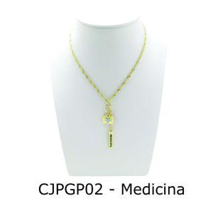 Conjunto Cordão e Pingente de Profissão Medicina sem Resina - CJPGP02
