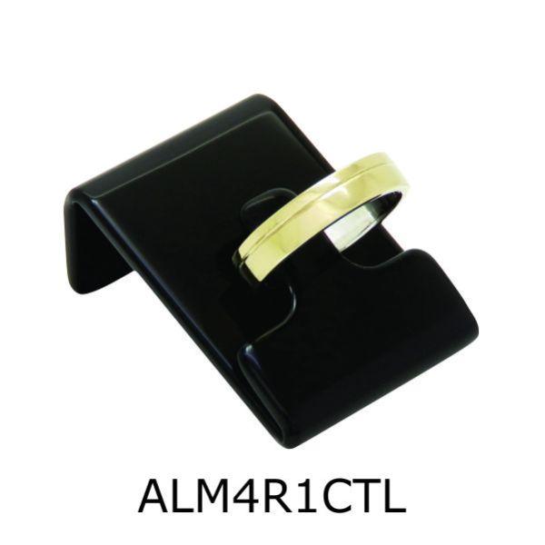 Aliança de Moeda Antiga Reta 4MM com Revestimento em Prata com 1 Canaleta no Torno Lateral – ALM4R1CTL