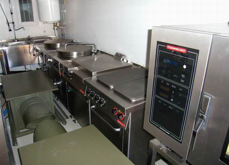 ISO 1C military container  kitchen  Variel as