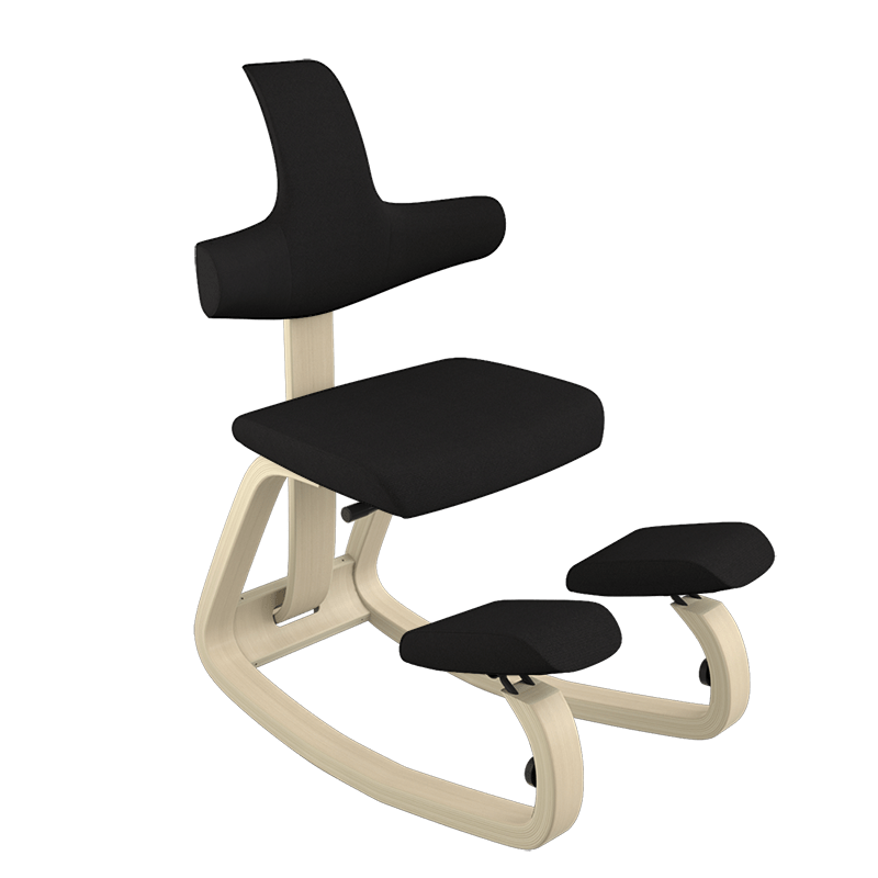 desk chair leans forward reclining gravity ergonomic kneeling chairs office varier furniture it s classic artful design supports your body like no other from the concave backrest to rounded
