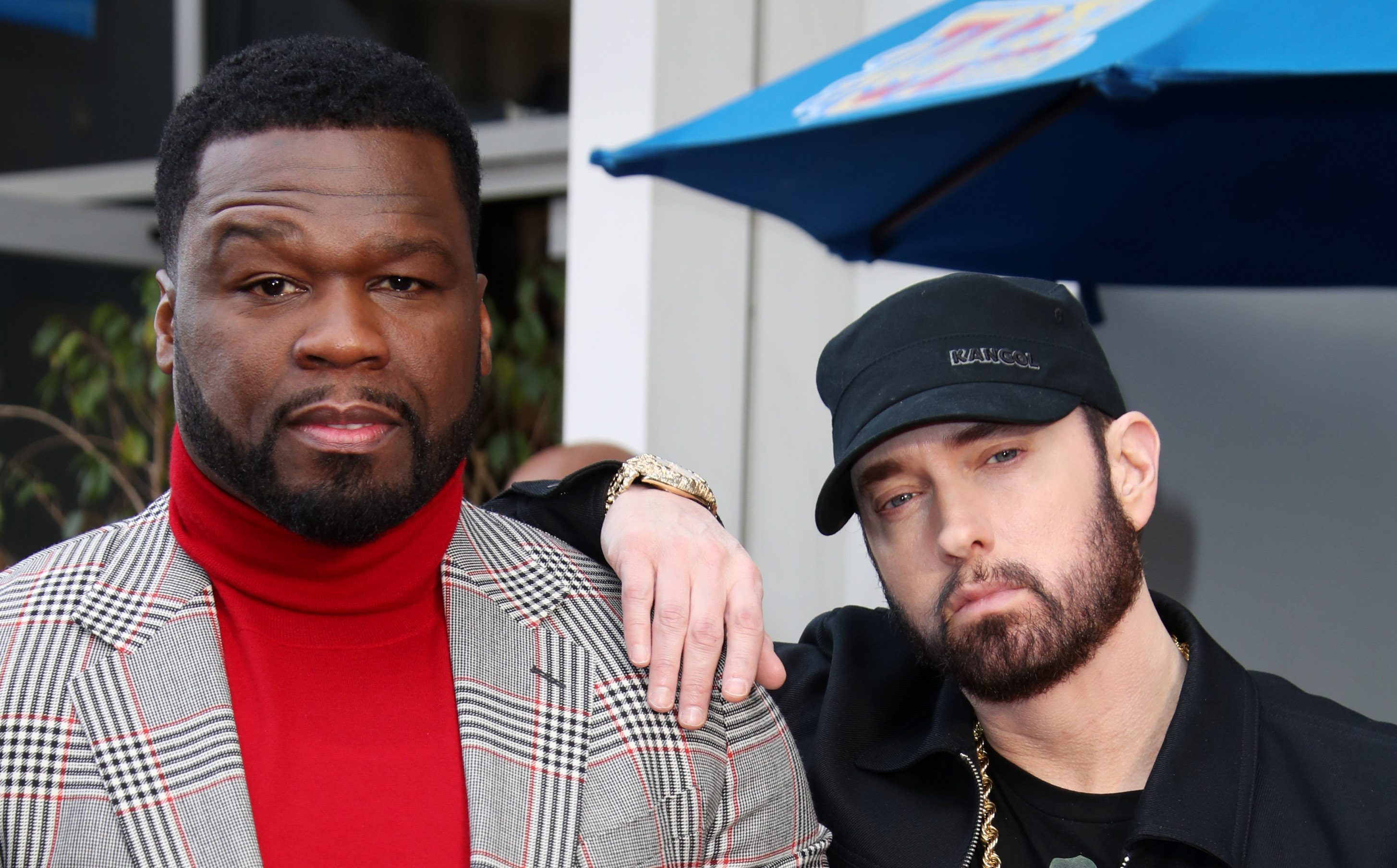 50*50 Eminem Inducts 50 Cent Into Hollywood's Walk Of Fame - Variety
