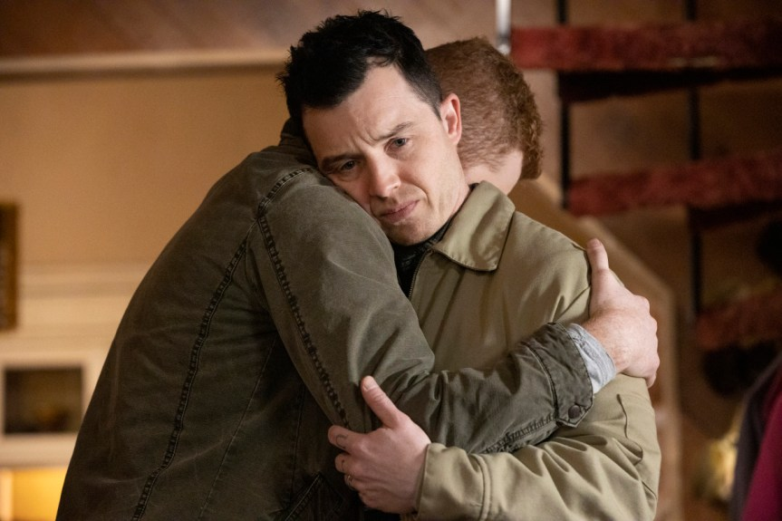 """(L-R): Noel Fisher as Mickey Milkovich and Cameron Monaghan as Ian Gallagher in SHAMELESS, """"Father Frank, Full of Grace"""". Photo Credit: Paul Sarkis/SHOWTIME."""