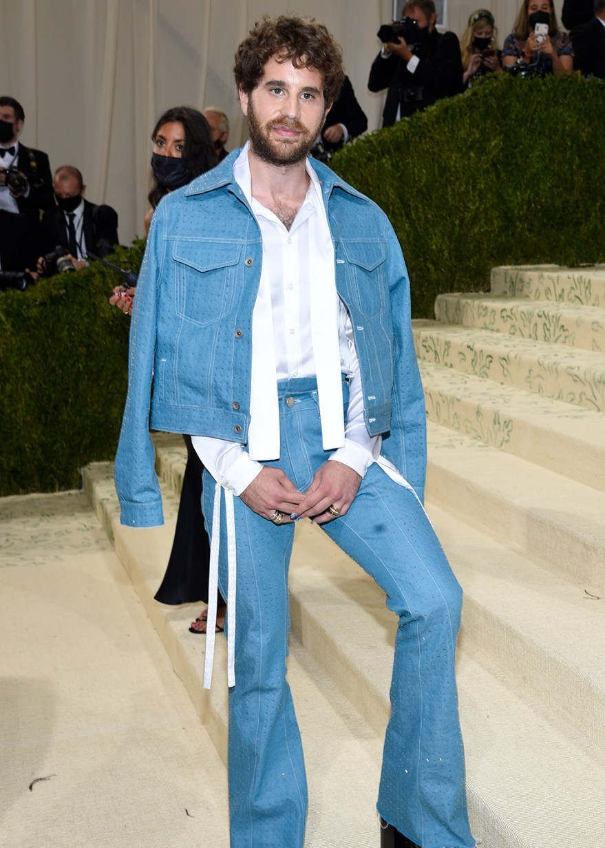 """Ben Platt attends The Metropolitan Museum of Art's Costume Institute benefit gala celebrating the opening of the """"In America: A Lexicon of Fashion"""" exhibition on Monday, Sept. 13, 2021, in New York. (Photo by Evan Agostini/Invision/AP)"""