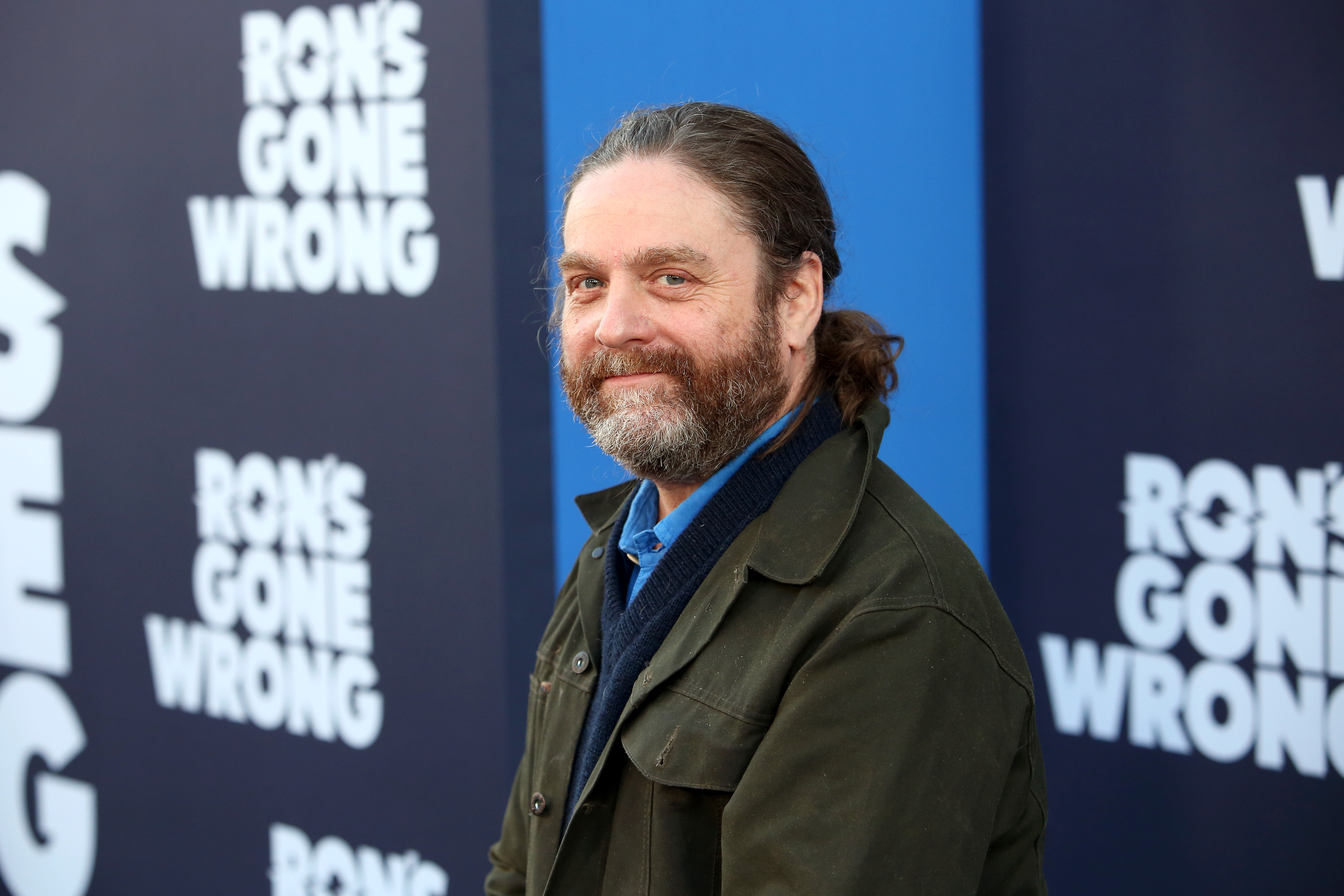 Zach Galifianakis Weighs in on the Negative Effects of Social Media and Texting at the Premiere of 'Ron's Gone Wrong'