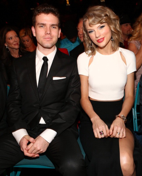 LAS VEGAS, NV - APRIL 06: Austin Swift (L) and recording artist Taylor Swift attend the 49th Annual Academy of Country Music Awards at the MGM Grand Garden Arena on April 6, 2014 in Las Vegas, Nevada. (Photo by Christopher Polk/ACMA2014/Getty Images for ACM)