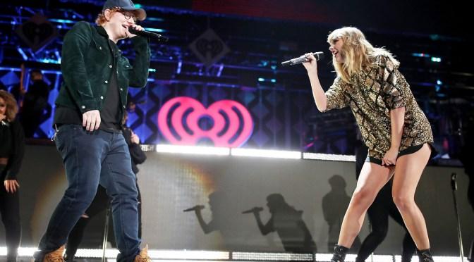 Taylor Swift + Ed Sheeran Perform Together At Jingle Ball!