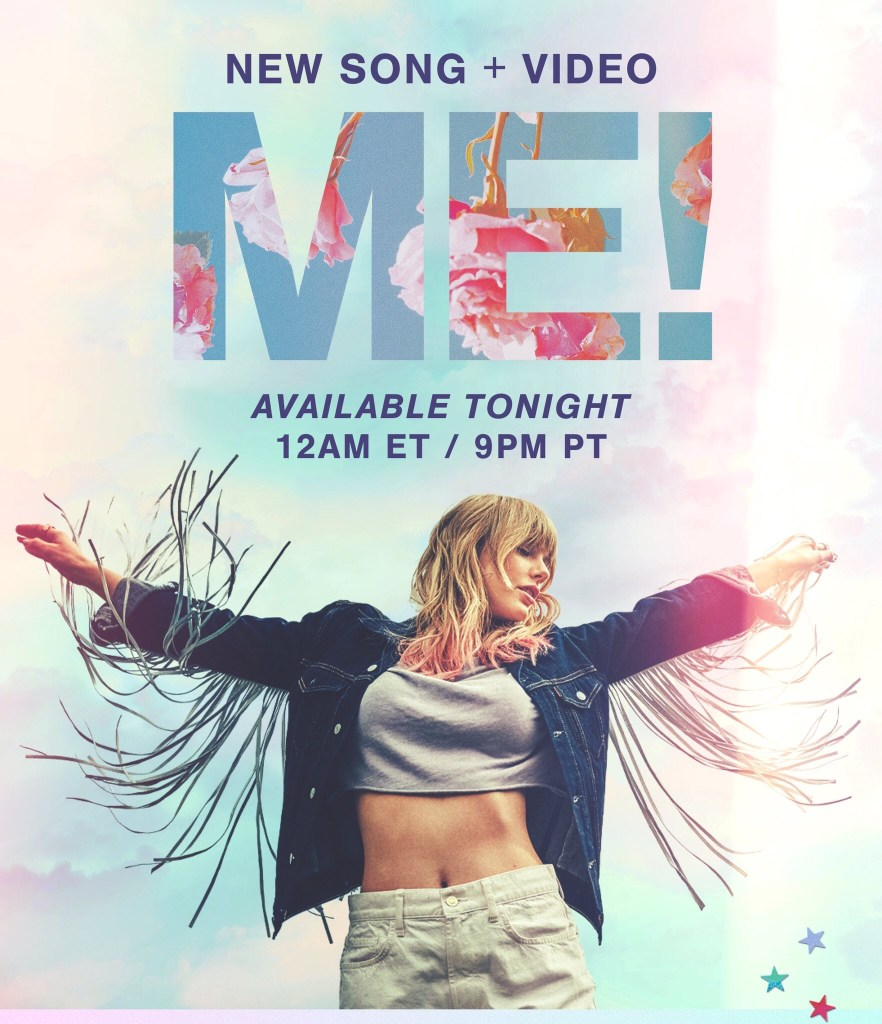 "Taylor Swift Me Feat Brendon Urie Of Panic At The Disco: Taylor Swift Is Dropping Her New Single ""ME!"" Ft. Brendon"