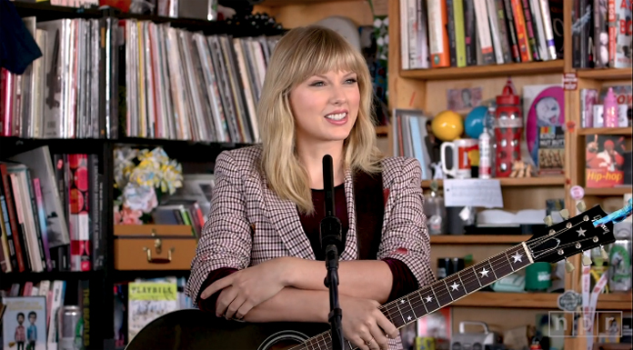 "Taylor Swift's 'Tiny Desk Concert' Breaks 3 Song Standard for ""All Too Well."""