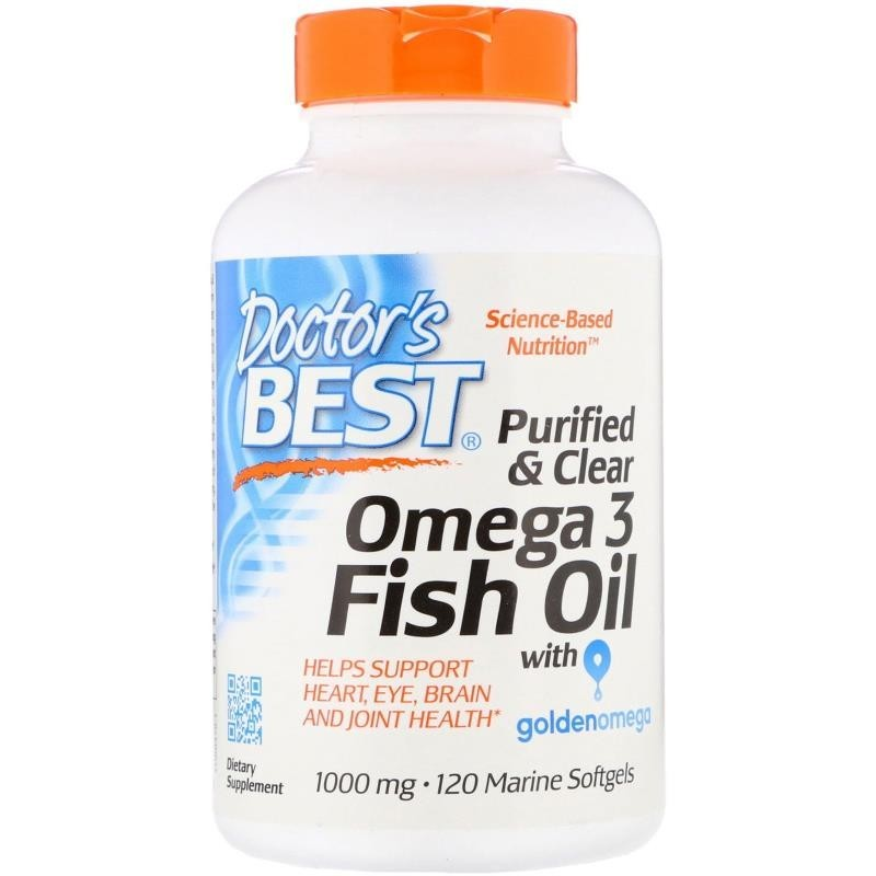 Doctor's Best Purified & Clear Omega 3 Fish Oil with ...