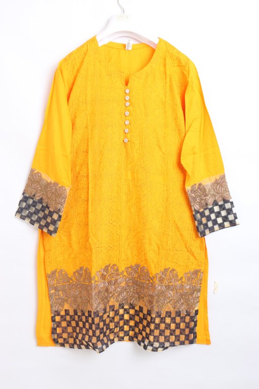 Traditional Embroidered Linen stitched shirts for women 1007-1