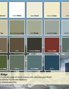 Siding colour chart  north ridge also variform rh