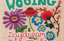 Wooing daydream time machine cover embroidered flowers