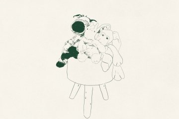 rose dorn days you were leaving album art drawing of three cuddly toys