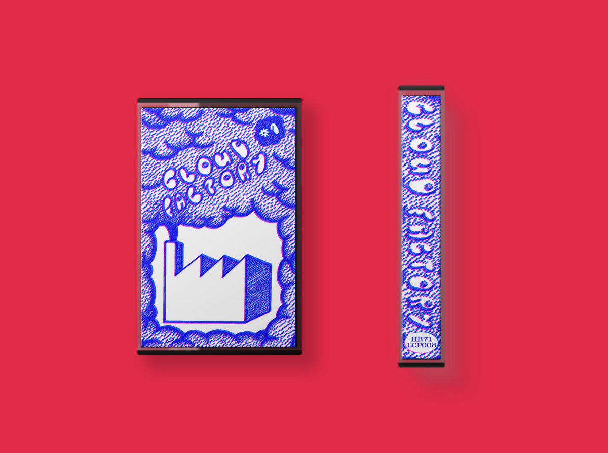 cassette artwork for the self-titled release by cloud' factory