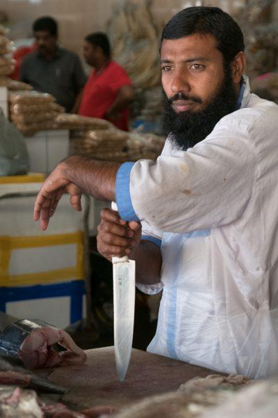"""Fish market """"cutter"""" in Dubai"""