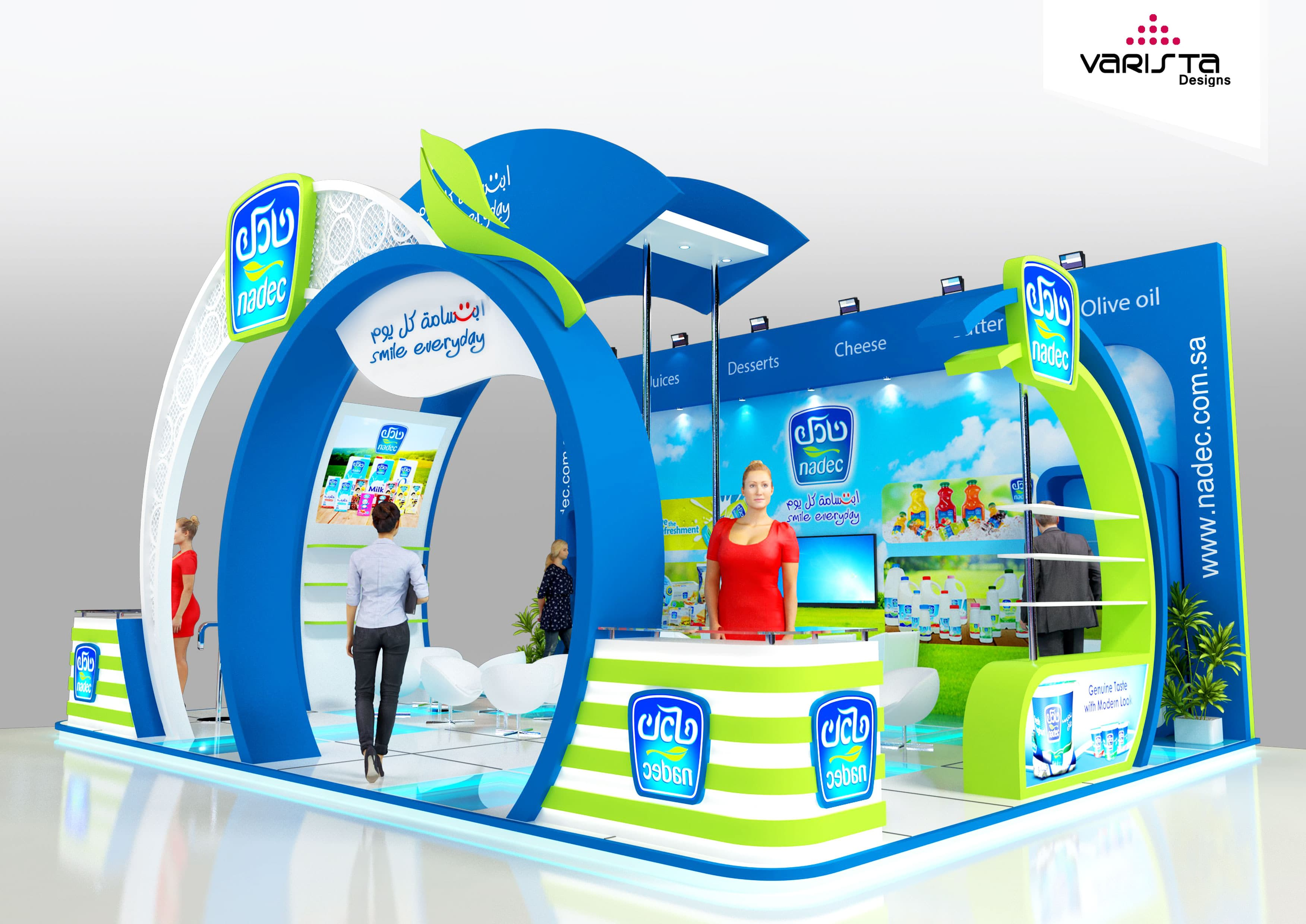 Get free designs proposal for exhibition booth & interior design