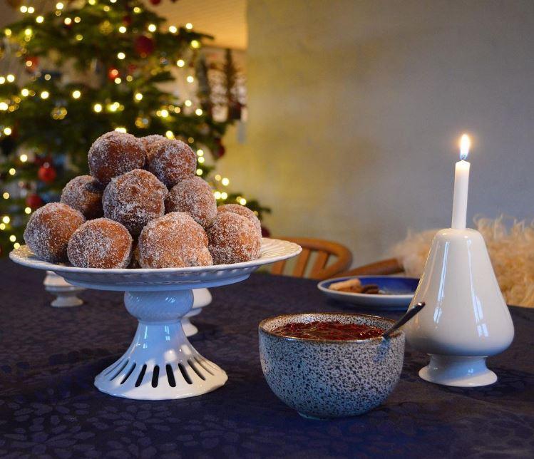 Hjemmelavet berlinere til jul