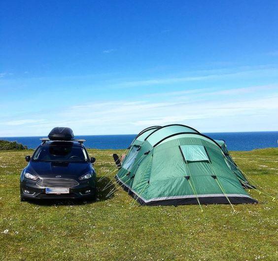 Camping med udsigt.