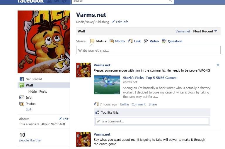 Varms On Facebook