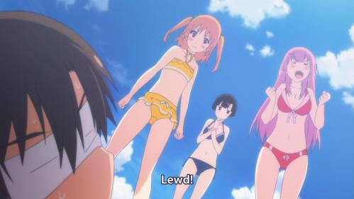 Anime Fact:  Men naturally reach for the nearest pair of breasts whenever they fall down for safety reasons.