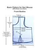 Basic Pattern for Sari Blouse With Waist Line Darts - Front Bodice
