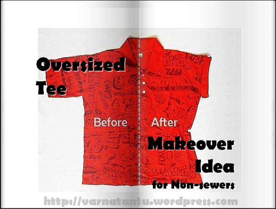 Oversized Tee Makeover Idea for Non-sewers (1/6)